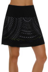 Lucky In Love Women's Laser Cut Medallion Pull On Golf Skort LIL-GB24-485001 Image 3