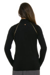 EP Pro NY Women's Gold Standard Piped Mock Golf Long Sleeve Top