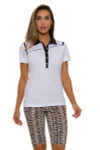 EP Pro NY Women's Gold Standard Angled Piping Golf Short Sleeve Polo-4