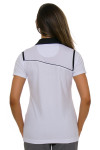 EP Pro NY Women's Gold Standard Angled Piping Golf Short Sleeve Polo-1a