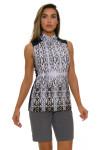 EP Pro NY Women's Gold Standard Animal Print Golf Sleeveless Shirt-3