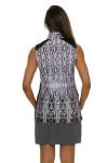 EP Pro NY Women's Gold Standard Animal Print Golf Sleeveless Shirt-5