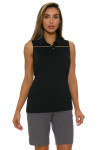 EP Pro NY Women's Gold Standard Pleat Mesh Back Golf Sleeveless Shirt-3