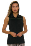 EP Pro NY Women's Gold Standard Pleat Mesh Back Golf Sleeveless Shirt-1