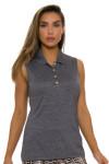 EP Pro NY Women's Gold Standard Pleat Mesh Back Golf Sleeveless Shirt-1