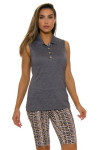 EP Pro NY Women's Gold Standard Pleat Mesh Back Golf Sleeveless Shirt-3