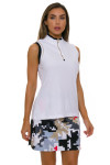 EP Pro NY Women's Gold Standard Asymmetric Blocked Golf Sleeveless Shirt-3