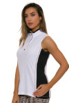 EP Pro NY Women's Gold Standard Asymmetric Blocked Golf Sleeveless Shirt-2