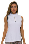 EP Pro NY Women's Gold Standard Asymmetric Blocked Golf Sleeveless Shirt-1