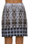 EP Pro NY Women's Gold Standard Abstract Animal Plaid Skort-5