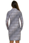 EP New York Houndstooth Long Sleeve Golf Dress - image back