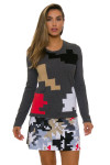 EP Pro NY Women's Gold Standard Abstract Puzzle Sweater EPNY-4341NCD Image 5