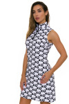Melly M Black and White Coco Delray Dress -2