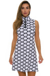 Melly M Black and White Coco Delray Dress -1