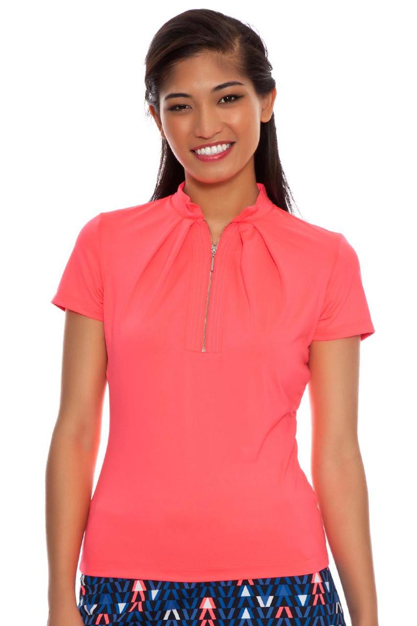 Agatha Zip Golf Polo Shirt