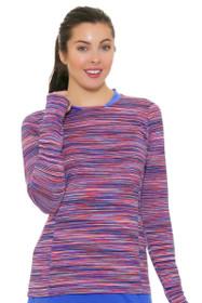 1b4dcdfc6 EP Pro NY Women s Beyond Blue Space Dye Golf Long Sleeve Shirt