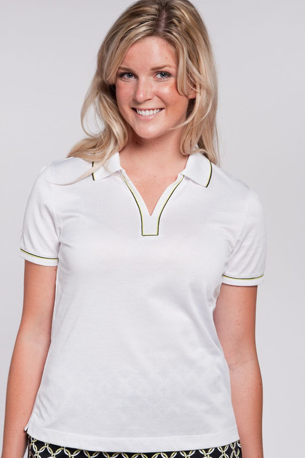 Contrast Piping Short Sleeve Polo-2 Colors