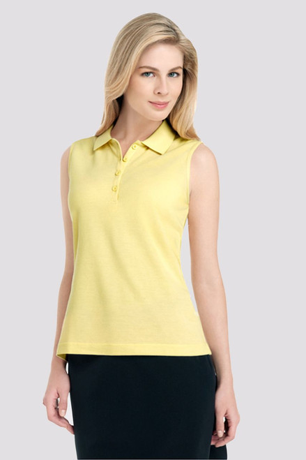 Sleeveless 4 Button Ladies Golf Polo-2 Colors