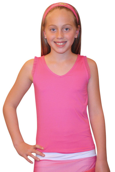 Lucky in Love Ms. Korn-a-kob-a Sleeveless V Neck Tank - Fuchsia