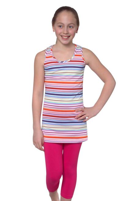 Multi Stripe Girls Dress TLT-KA0814 Image 3