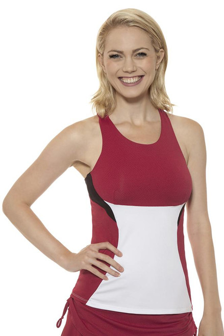 High Neck Brandy Tennis Tank