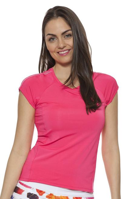 Shocking Pink Cap Sleeve Top