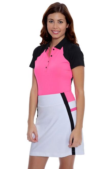 Annika Women's Outline Michelle Color Blocked Pull On Golf Skort