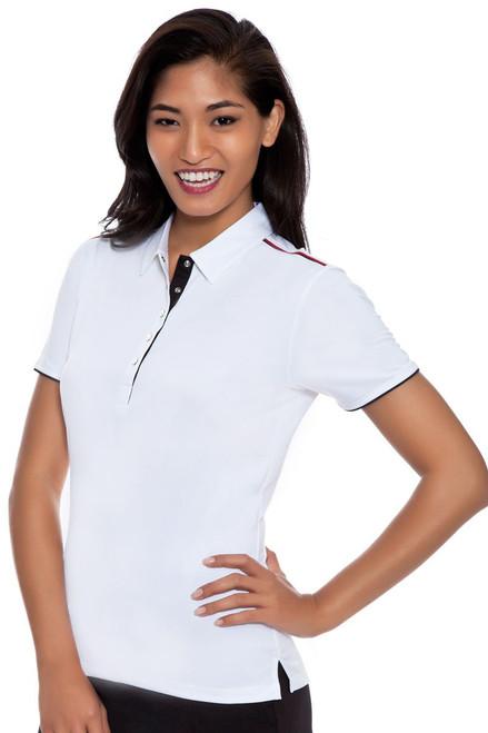 Callaway Women's Women'sHeritage Opti-Vent Back Panel Golf Polo Shirt