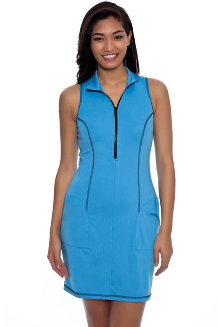 Kevan Hall Sport  Mock Zip Scuba Golf Dress