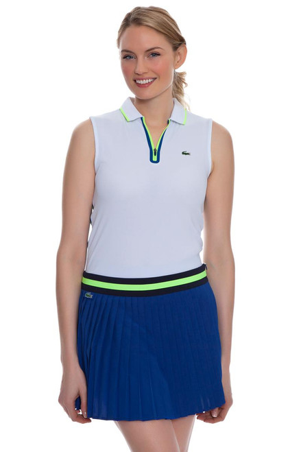 Lacoste Women's Royal Blue Contrast Waistband Pleated Tennis Skirt LC-JF5972-51 Image 4