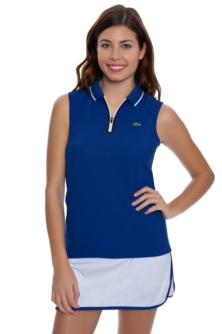Lacoste Women's Royal and White Contrast Tipped Tennis Skirt LC-JF5977-51 Image 4