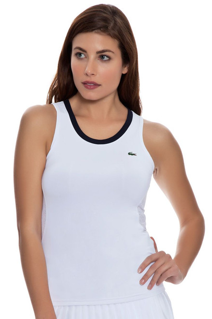 White Mesh Back Tennis Tank LC-TF5967-51-White Image 4
