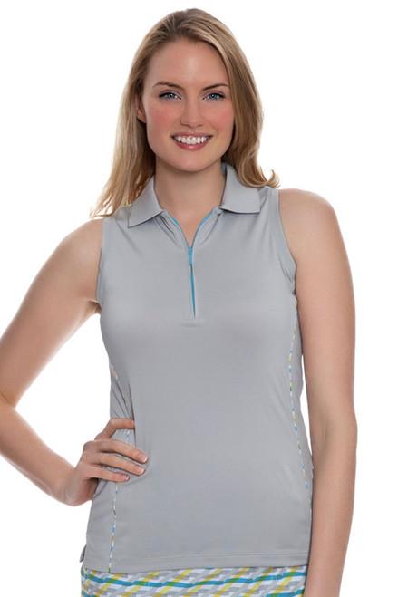 Peter Millar Women's Summerside Zip Neck Sleeveless Golf Polo