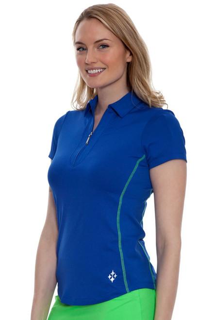 Jofit Women's Melon Ball Fusion Short Sleeve Golf Polo Shirt