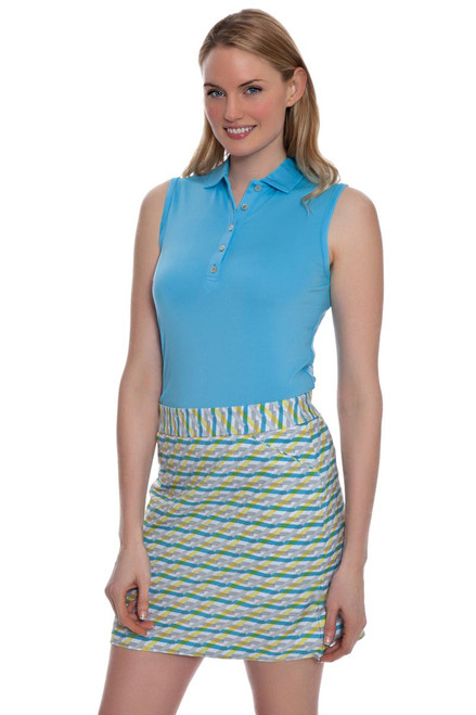 Peter Millar Women's Summerside Print Waves Golf Skort