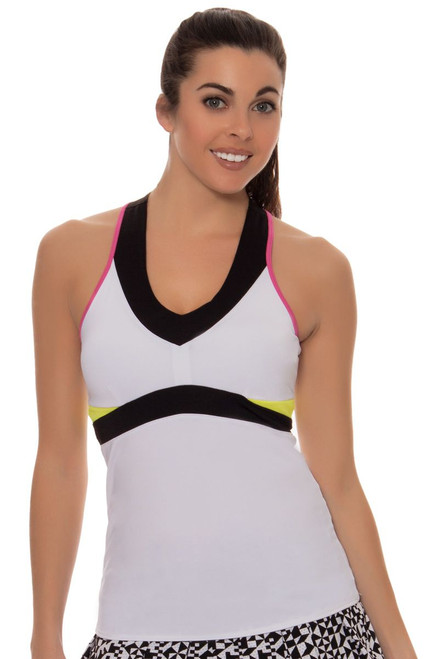 V Neck Colorblock Tennis Tank