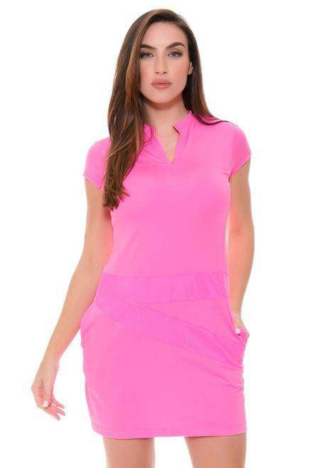 EP Sport Women's Coachella Lineup Mesh Blocked Golf Dress