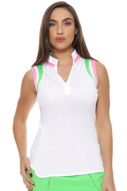 EP Sport Women's Coachella Debut Sleeveless Golf Polo