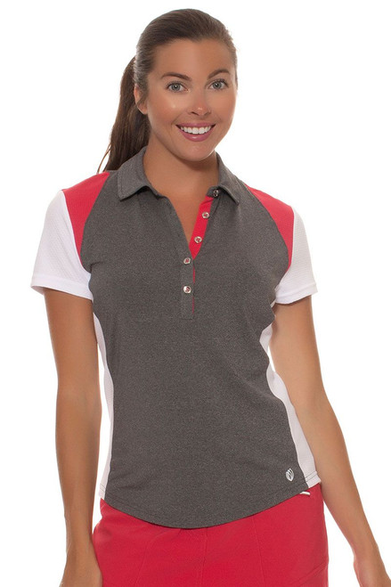 GGBlue Women's Ruby Sky Raven Colorblock Golf Polo GG-E998-1606 Image 1