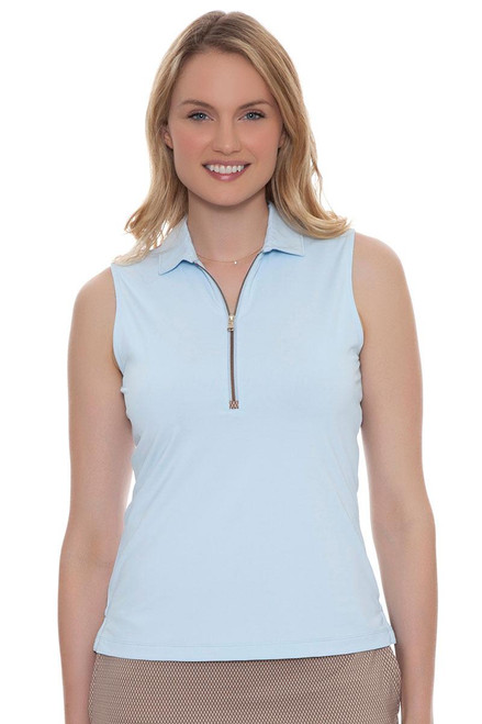 Fairway and Greene Women's Somerset Marisol Sleeveless Golf Polo Shirt