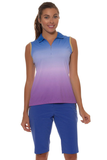 EP Sport Women's Obsidian Tourmaline Reflective Tape Trim Golf Short