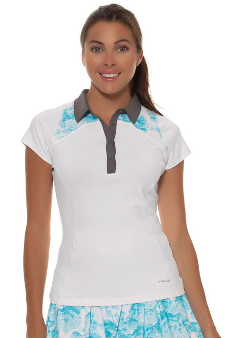 Annika Women's Sky Above Maili Polo Golf Polo Shirt