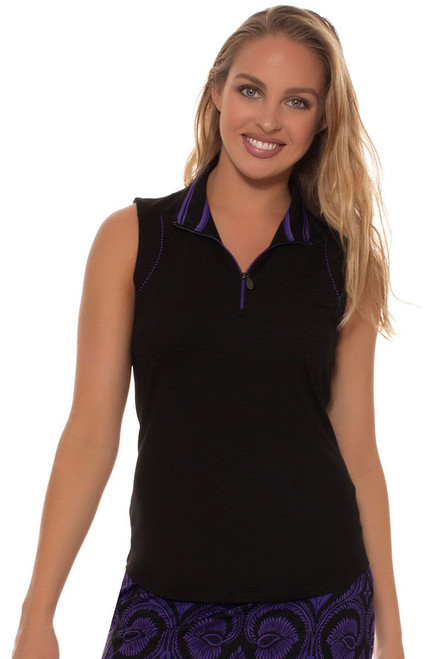 Greg Norman Women's El Morado Piped Trim Golf Polo Shirt