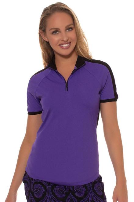 Greg Norman Women's El Morado El Morado Contrast Trim Golf Polo Shirt