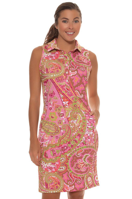 Tee 2 Sea Women's  Pink Paisley Print Golf Dress