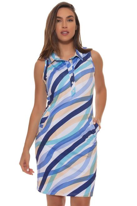 Tee 2 Sea Women's  Ocean Wave Print Golf Dress