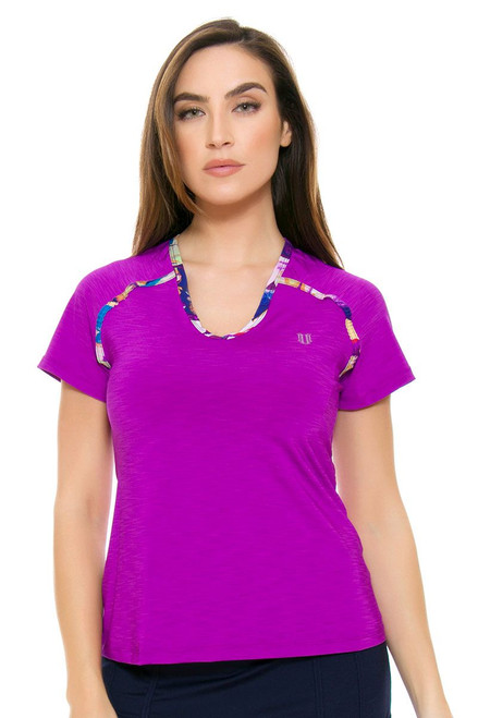 Eleven Women's Prism Flying Vee Tennis Shirt E-PR1151-515 Image 4