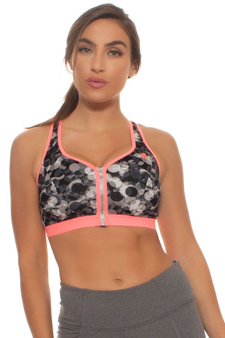 Shock Absorber Women's  Active Zipped Plunge Sports Bra SA-S00BW Image 5