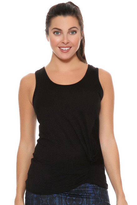 Lucky In Love Women's Core Tops Do The Twist Black Tennis Tank