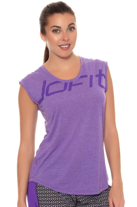 Jofit Women's Workout Muscle Tee with Print